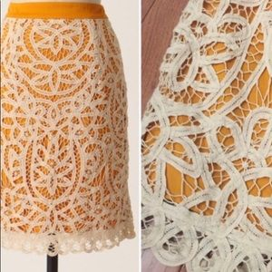 Anthropologie Odille Lacemaker Skirt